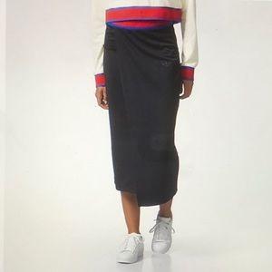 NEW Adidas Embellished Arts Wrap Maxi Skirt
